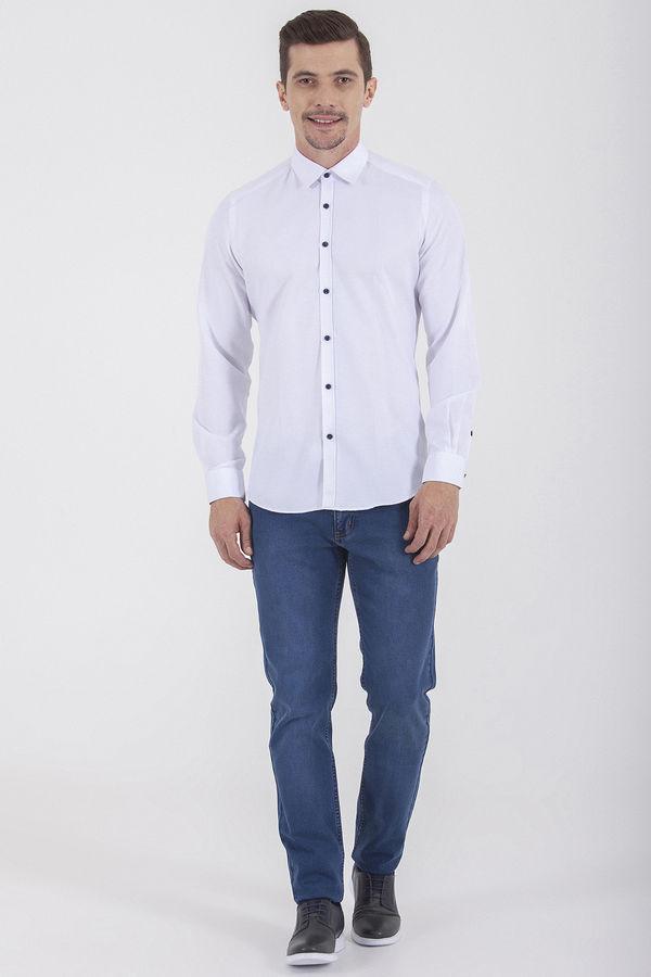 HTML - Slim Fit Beyaz Gömlek (1)