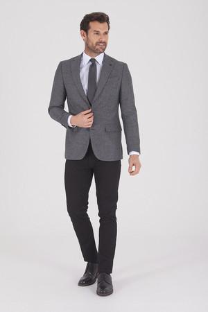 Hatem Saykı - Gri Slim Fit Desenli Ceket (1)