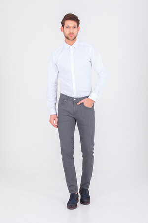 HTML - Slim Fit Gri Pantolon (1)