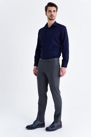 Gri Slim Fit Kumaş Pantolon - Thumbnail