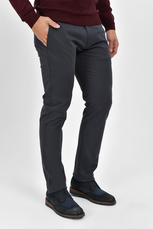 Slim Fit Gri Pantolon - Thumbnail