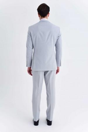 Açık Gri Slim Fit Takım Elbise - Thumbnail