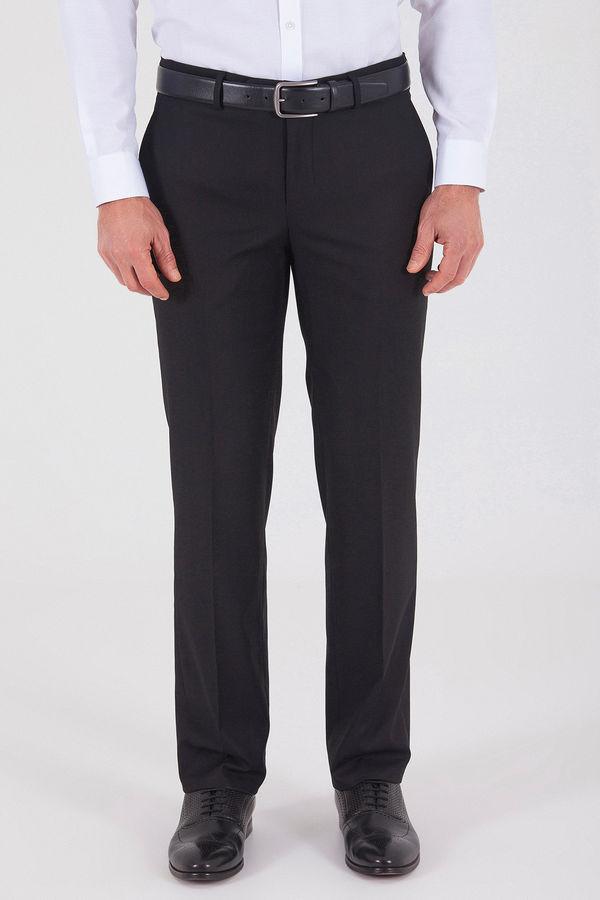 Hatem Saykı - Siyah Slim Fit Yünlü Kumaş Pantolon