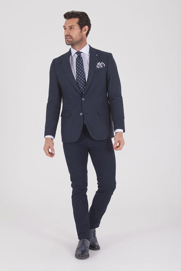 Slim Fit Lacivert Ceket