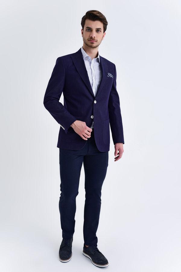 Hatem Saykı - Slim Fit Lacivert Ceket (1)