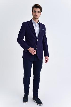 Hatem Saykı - Lacivert Slim Fit Blazer Ceket (1)