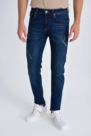 HTML - Lacivert Slim Fit Kot Pantolon