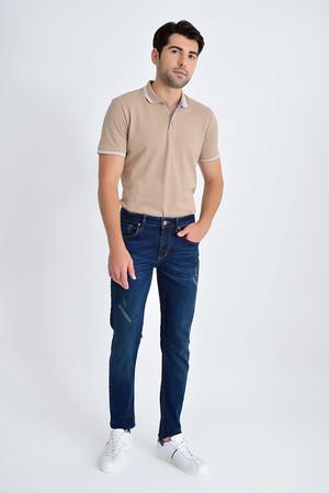 HTML - Lacivert Slim Fit Kot Pantolon (1)