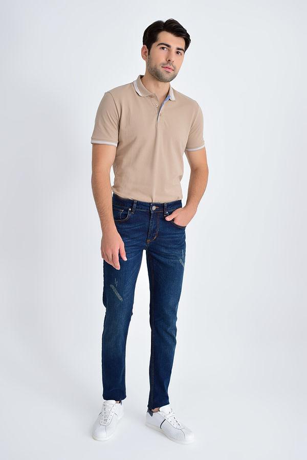 HTML - Slim Fit Lacivert Pantolon (1)