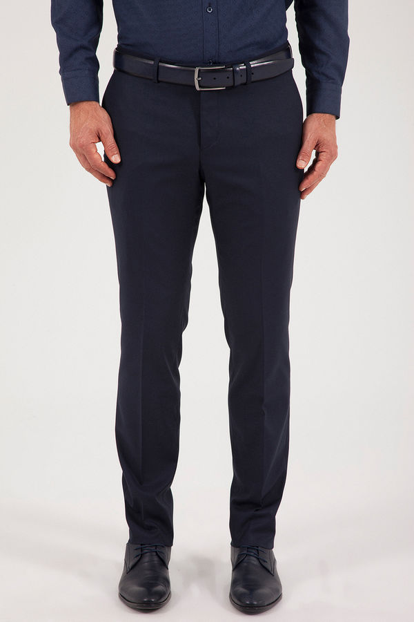 Hatemoğlu - Lacivert Slim Fit Kumaş Pantolon