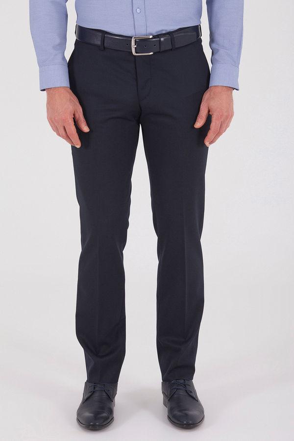 Lacivert Slim Fit Yünlü Kumaş Pantolon