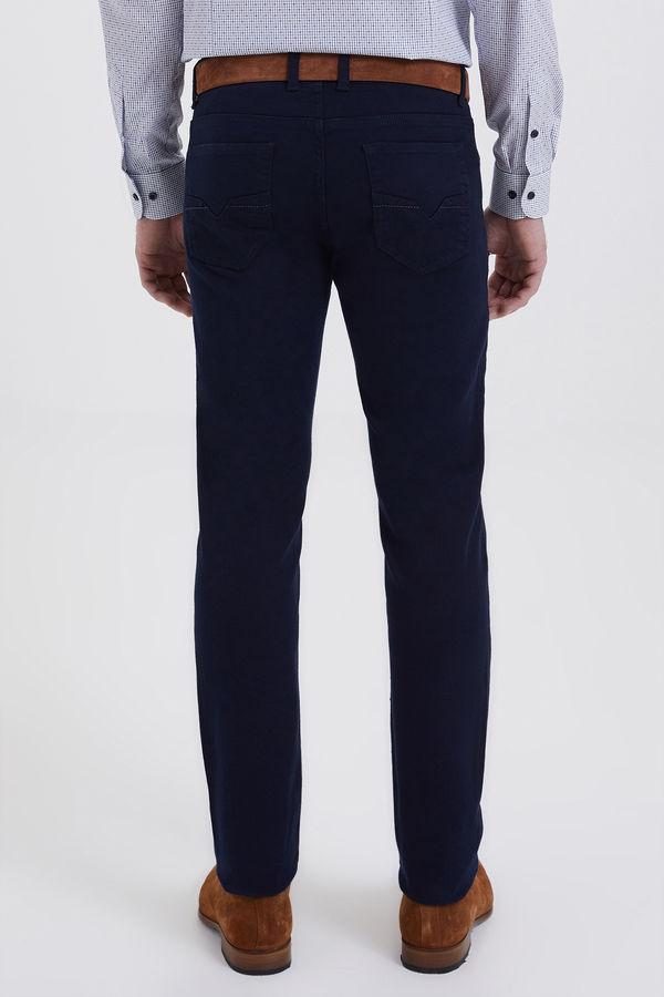 Slim Fit Lacivert Pantolon