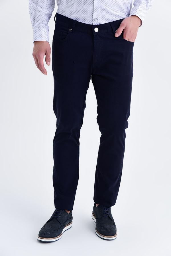 HTML - Slim Fit Lacivert Pantolon