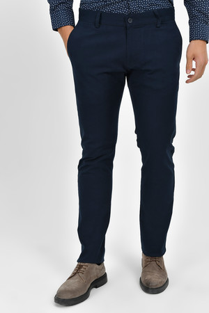 HTML - Slim Fit Lacivert Pantolon
