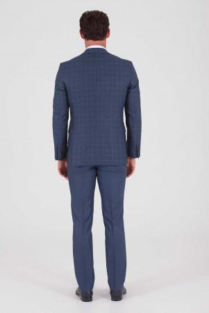 Slim Fit Lacivert Takım Elbise - Thumbnail