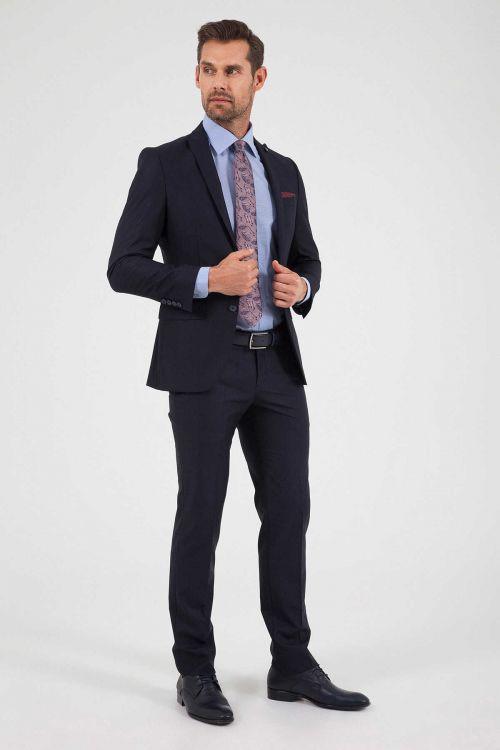 Hatemoğlu - Slim Fit Lacivert Takım Elbise (1)