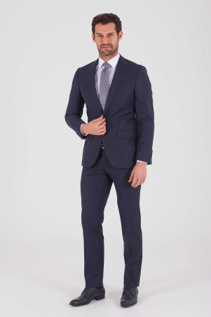 Hatem Saykı - Lacivert Slim Fit Takım Elbise (1)