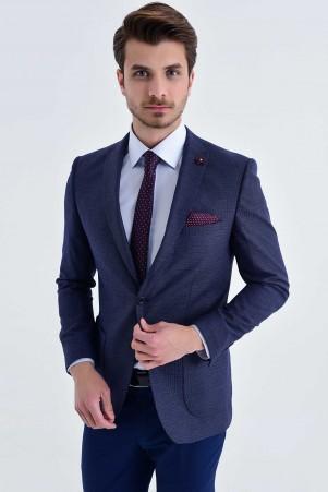 HTML - Slim Fit Lacivert Takım Elbise