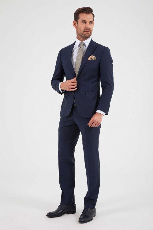 Hatem Saykı - Slim Fit Lacivert Takım Elbise (1)
