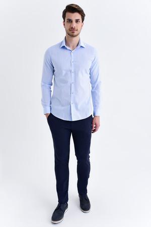 Hatem Saykı - Slim Fit Mavi Gömlek (1)