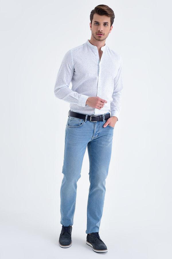 Hatem Saykı - Slim Fit Mavi Pantolon (1)