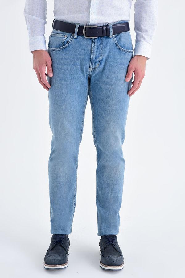 Hatem Saykı - Slim Fit Mavi Pantolon