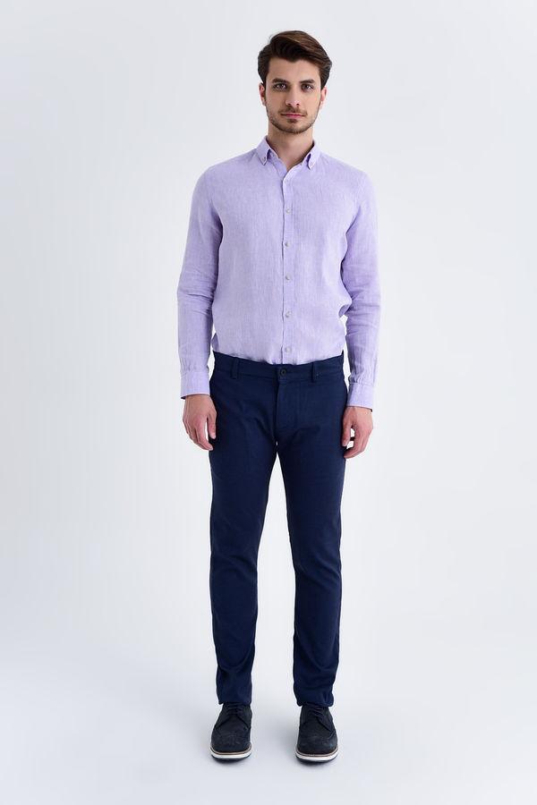 HTML - Açık Lacivert Slim Fit Spor Pantolon (1)
