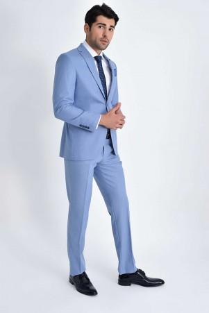 Hatemoğlu - Açık Mavi Slim Fit Takım Elbise (1)