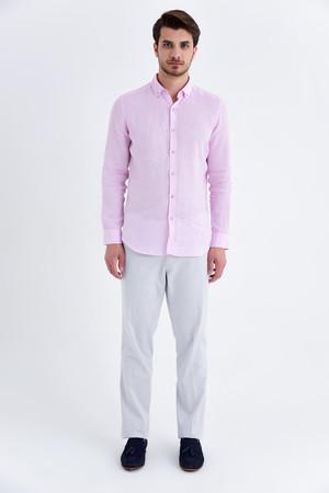 Hatem Saykı - Slim Fit Pembe Gömlek (1)