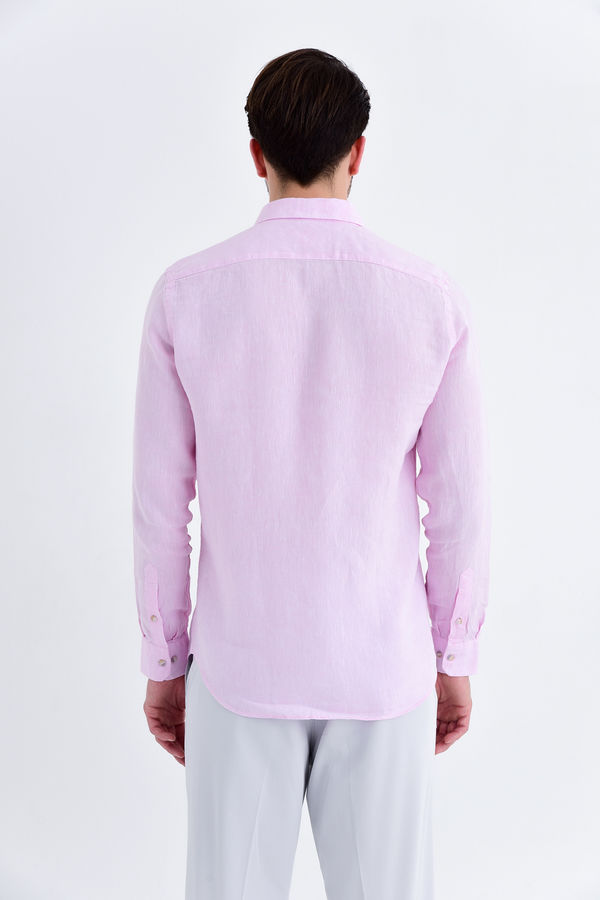 Slim Fit Pembe Gömlek