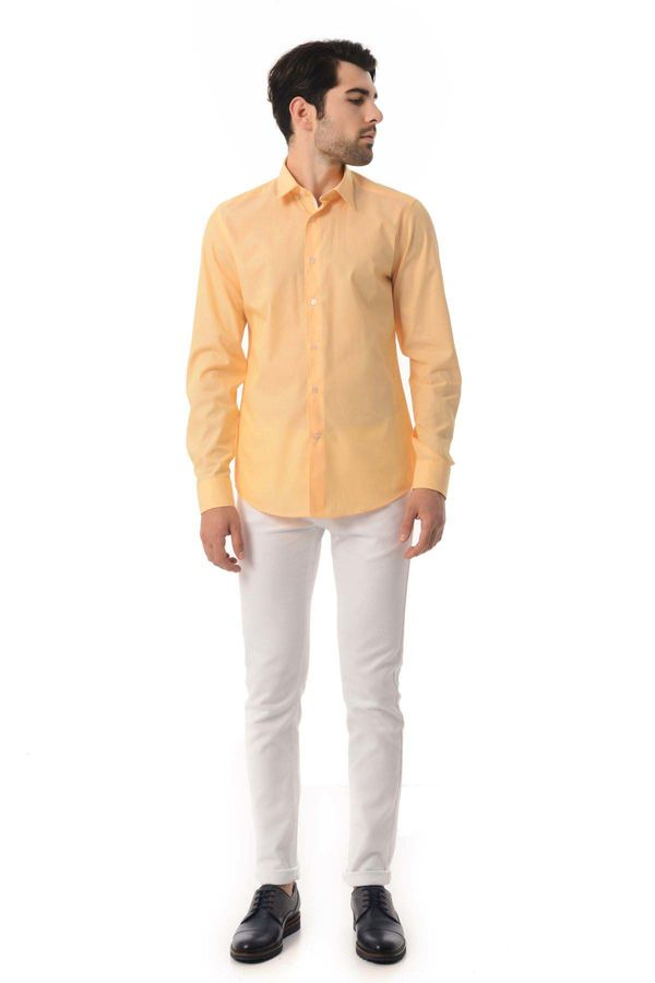 Hatemoğlu - Slim Fit Sarı Gömlek