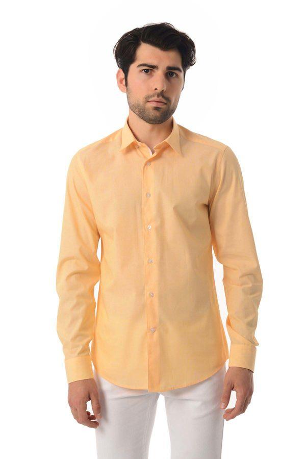 Hatemoğlu - Slim Fit Sarı Gömlek (1)