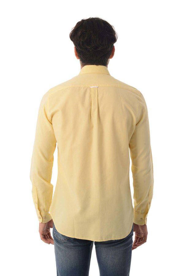 Slim Fit Sarı Gömlek