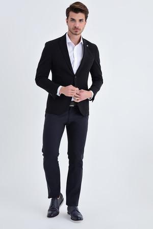 Hatem Saykı - Siyah Slim Fit Blazer Ceket (1)