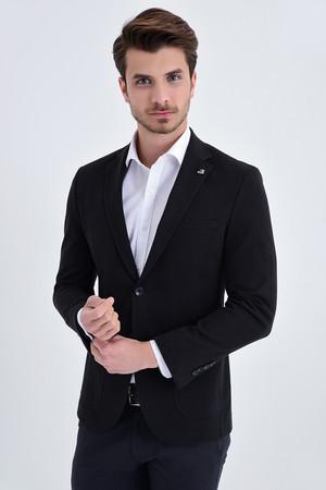 Hatem Saykı - Siyah Slim Fit Blazer Ceket