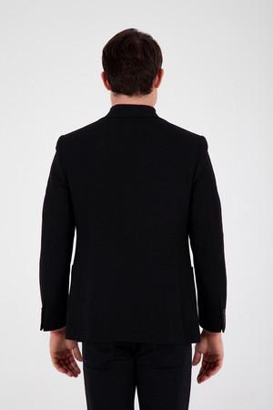 Slim Fit Siyah Ceket - Thumbnail
