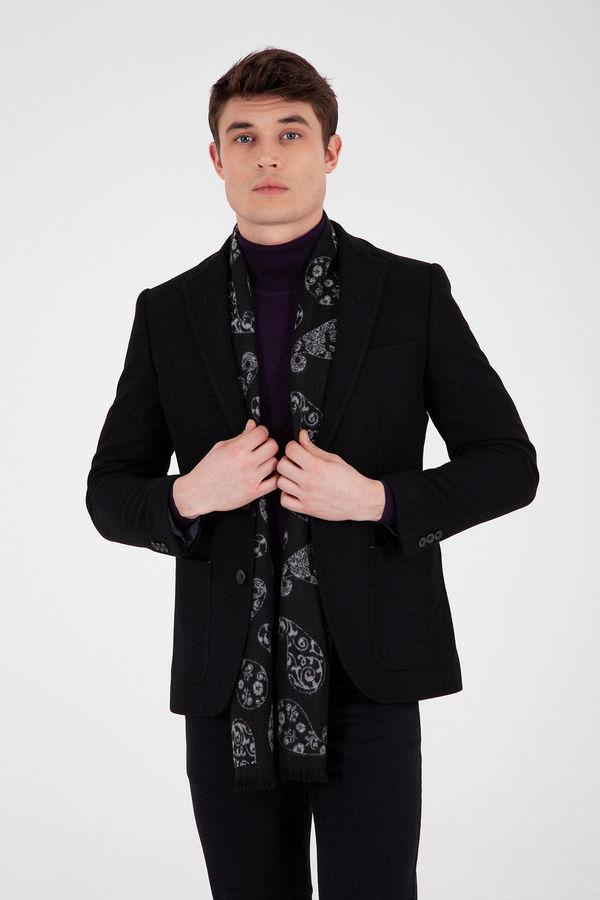 Hatem Saykı - Siyah Slim Fit Ceket