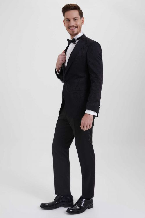 Hatem Saykı - Slim Fit Siyah Damatlık /Smokin (1)
