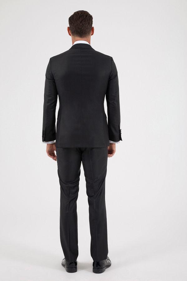 Slim Fit Siyah Damatlık/Smokin