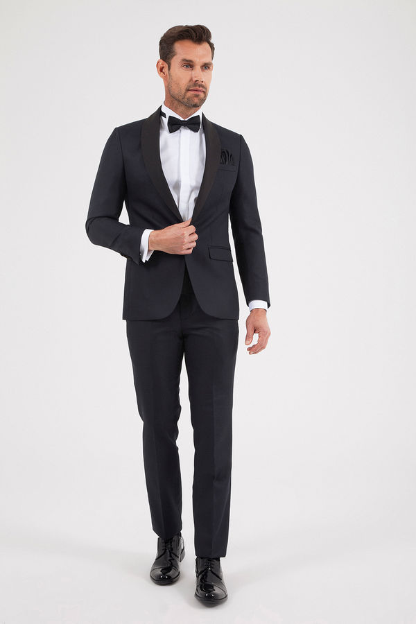 Hatem Saykı - Slim Fit Siyah Damatlık/Smokin (1)