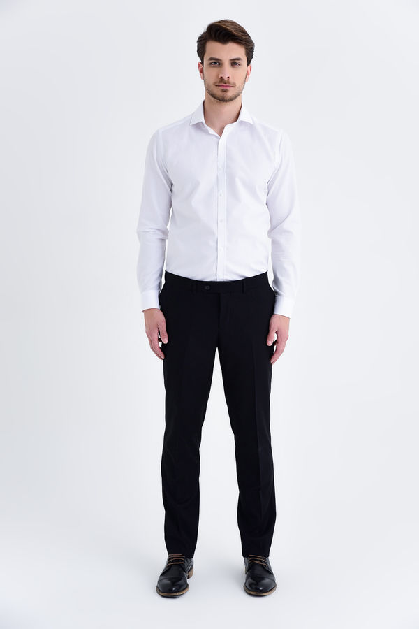Siyah Slim Fit Kumaş Pantolon