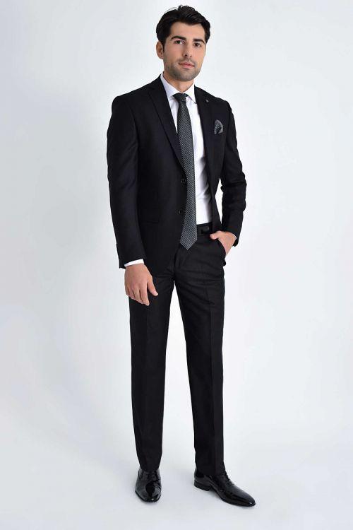 Hatemoğlu - Siyah Slim Fit Takım Elbise