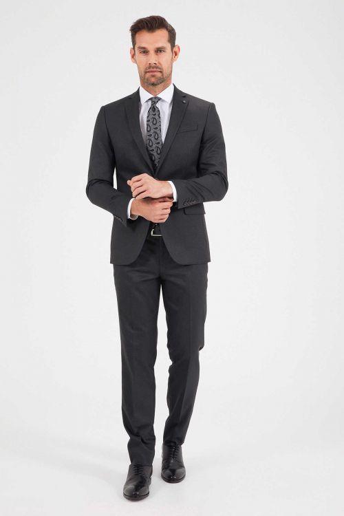 Hatemoğlu - Siyah Slim Fit Yelekli Takım Elbise (1)