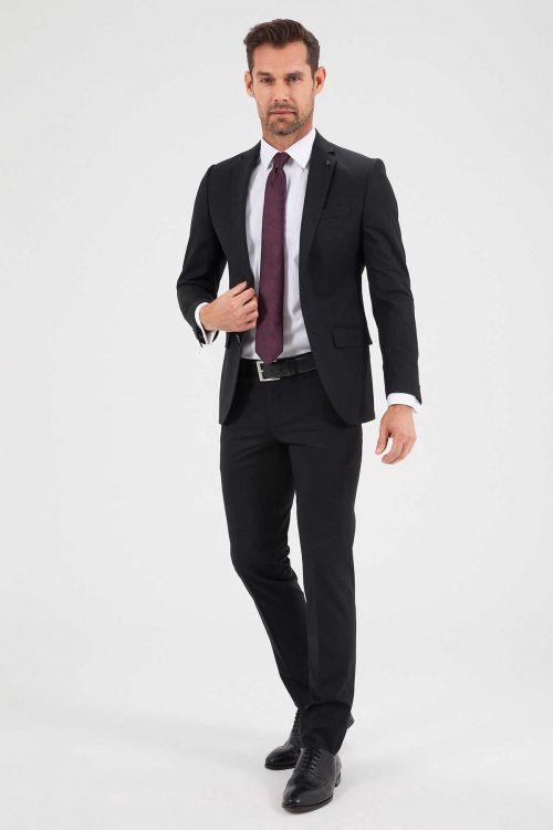 Hatemoğlu - Slim Fit Siyah Takım Elbise (1)