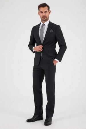 Hatem Saykı - Siyah Slim Fit Takım Elbise (1)