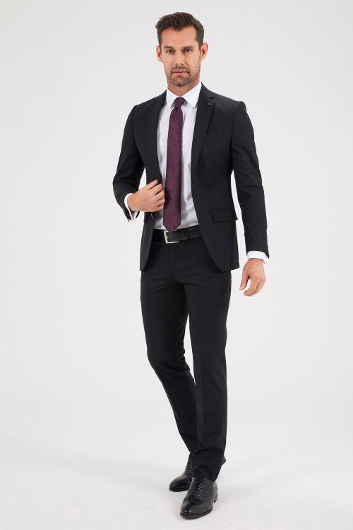 Hatemoğlu - Siyah Slim Fit Takım Elbise (1)