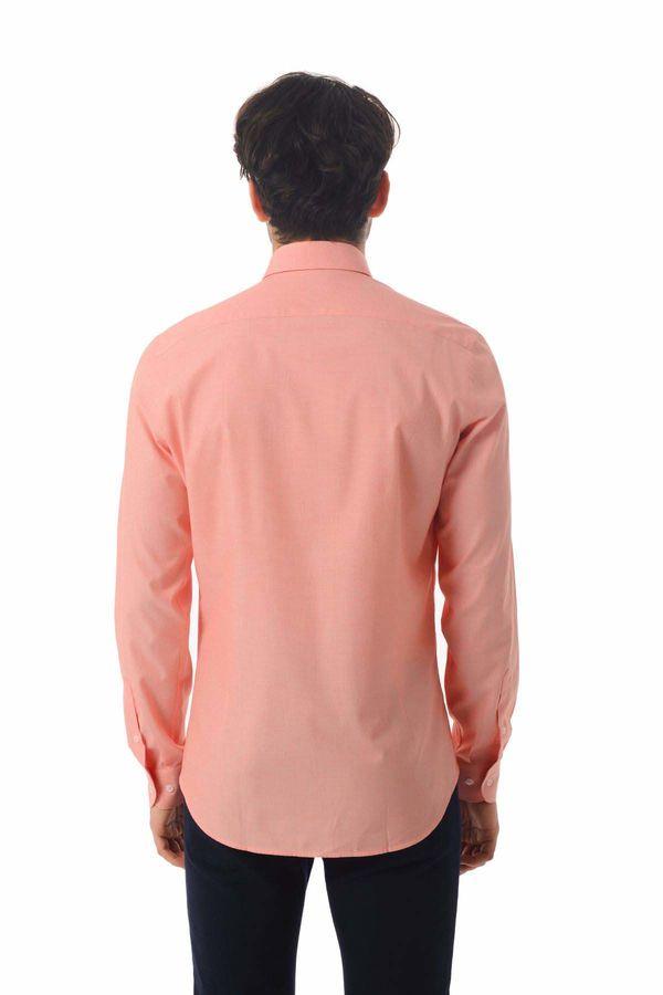 Slim Fit Turuncu Gömlek