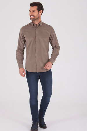Hatem Saykı - Slim Fit Vizon Gömlek (1)