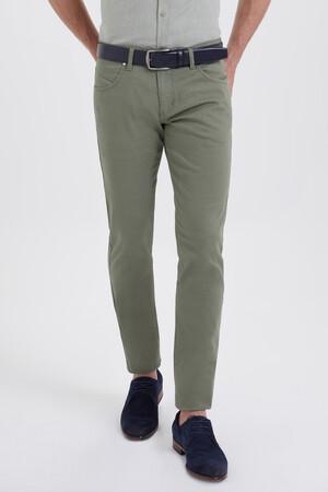 HTML - Slim Fit Yeşil Pantolon