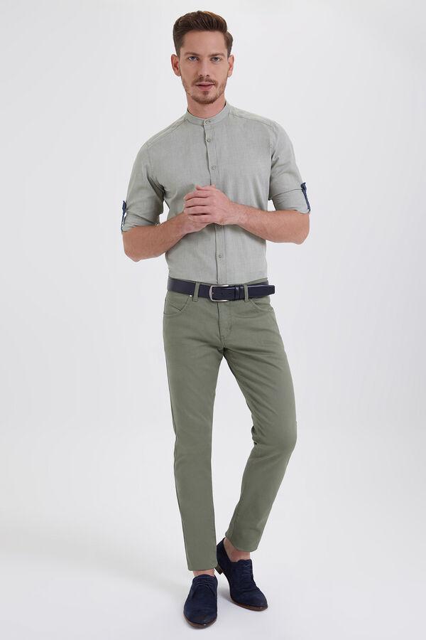 HTML - Slim Fit Yeşil Pantolon (1)